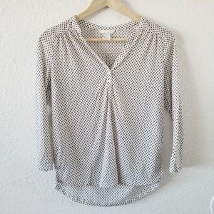 H&M Printed Three Quarter Sleeve Blouse